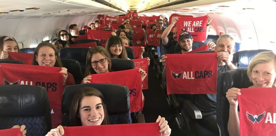 1be72ca734f Ted Leonsis gifted 200 employees a surprise trip to Las Vegas to attend the  Caps  Stanley Cup Final games