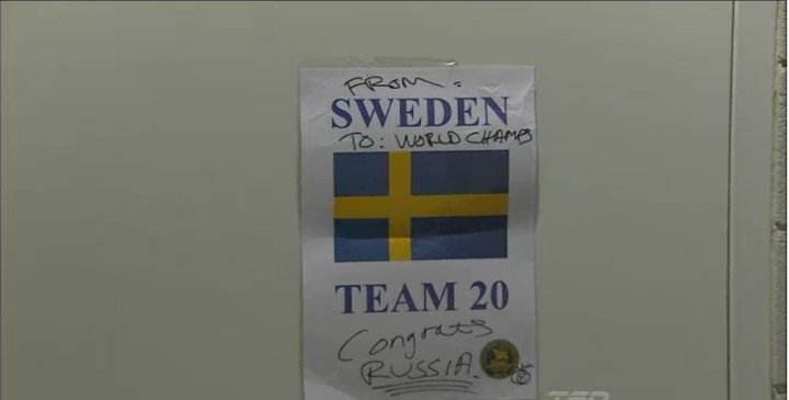 Sweden congratulates Russia on win