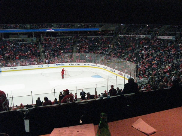 A View of the ice from Ted Leonsis' Owner's Box
