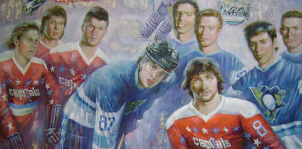 Alex Reut's painting for Winter Classic and Lokomotiv tragedy