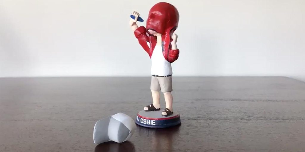 free shipping 33a63 200a3 TJ Oshie loves this custom bobblehead of himself drinking a ...