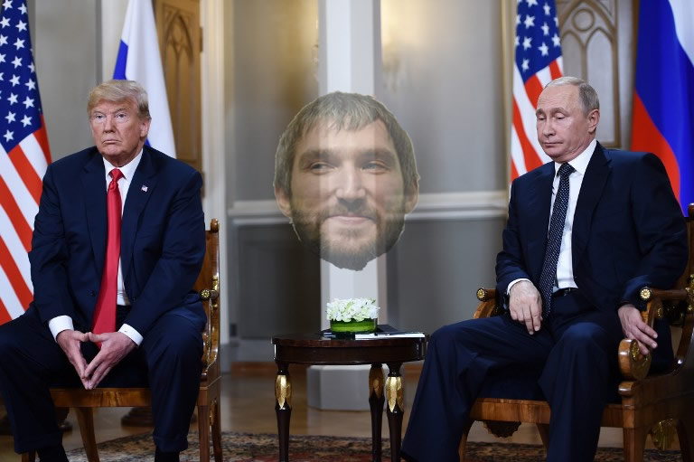 a4800c66545 Donald Trump gave Vladimir Putin an Alex Ovechkin Caps jersey at otherwise  completely unremarkable Helsinki summit