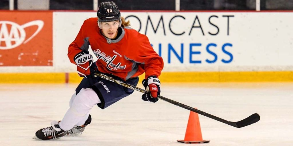 Axel Jonsson-Fjällby enters camp with mind set on making the Capitals   opening night roster 339dde3eb10