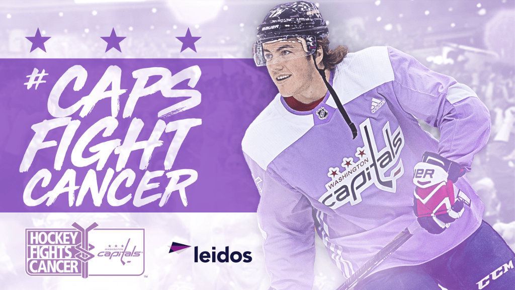 timeless design 288c5 1f86c Capitals to host Hockey Fights Cancer night on November 9
