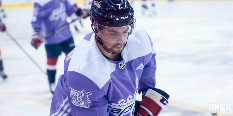81c062f7f Capitals wear lavender during warmups on Hockey Fight Cancer Night (Photos)