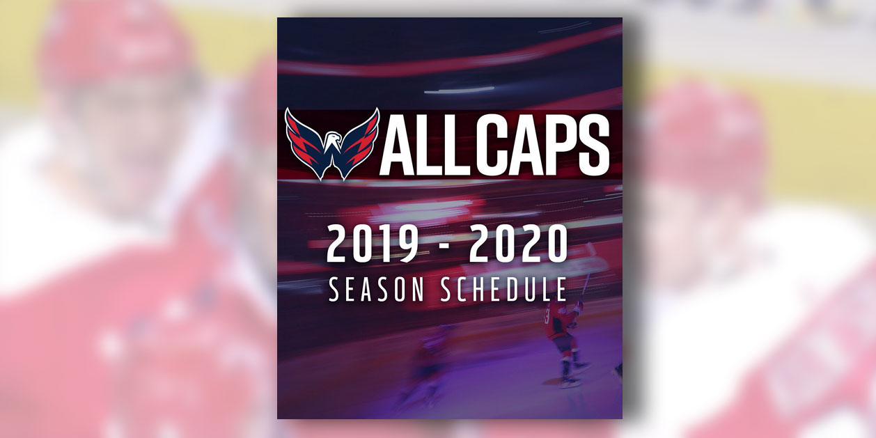picture about New York Rangers Printable Schedule named Heres the Washington Capitals 2019-20 month-to-month year routine
