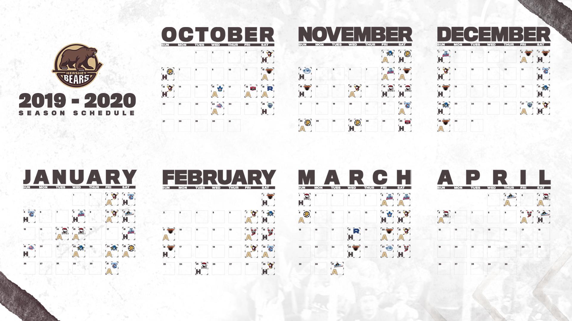 Bears Preseason Schedule 2020 Hershey Bears release 2019 20 regular season schedule