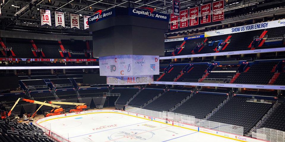 Capital One Arena S Brand New Jumbotron To Make Debut During Caps Preseason Opener
