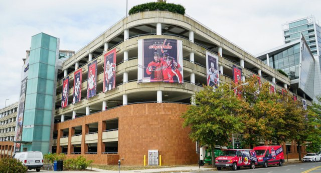 Caps unveil new banners outside MedStar Capitals Iceplex for 2019-20 season