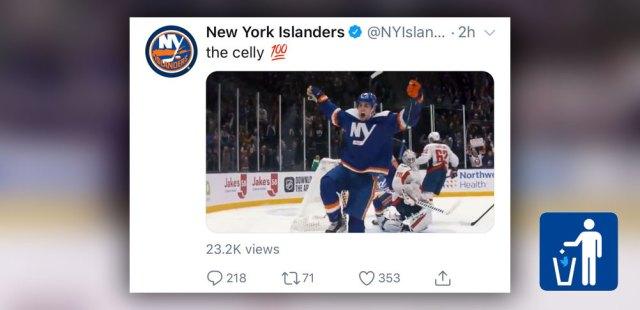 New York Islanders delete Devon Toews bird-celly tweet after getting roasted on Twitter