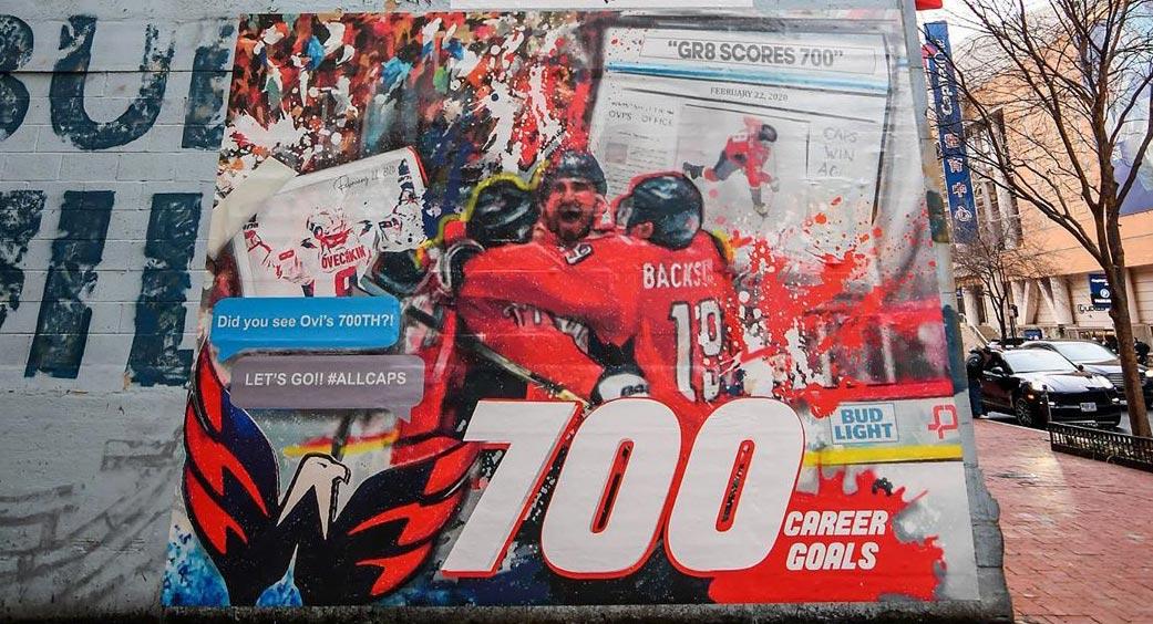 DC artist creates mural commemorating Alex Ovechkin's 700 career goals