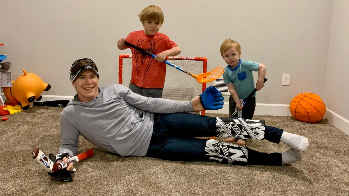 NHL players spending time at home being adorable with their children