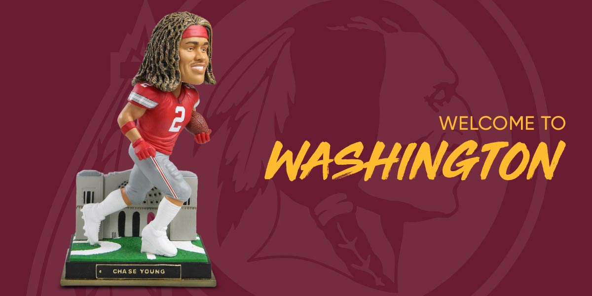 The Washington Redskins Selected Ohio State De Chase Young With The Second Overall Pick There S Already A Bobblehead Of Him