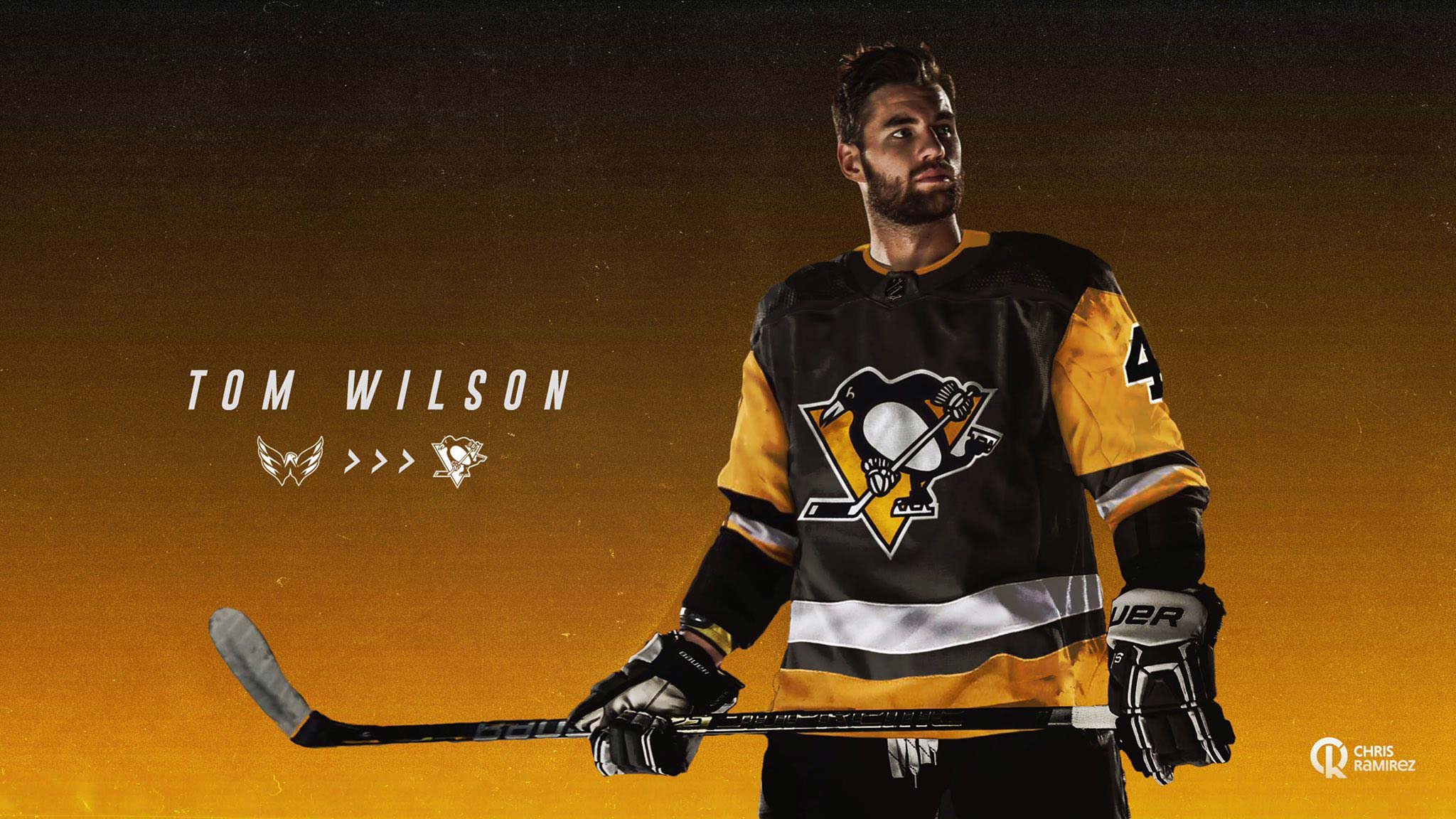 Hockey Fan Photoshops Tom Wilson Into A Pittsburgh Penguins Jersey And It Feels So Wrong Rmnb