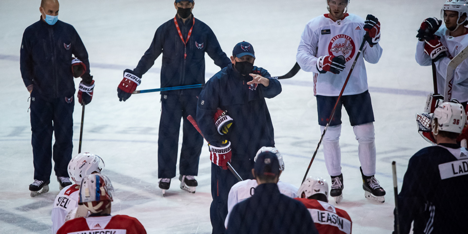 Peter Laviolette's two biggest pieces of advice for prospects at Capitals Rookie Camp
