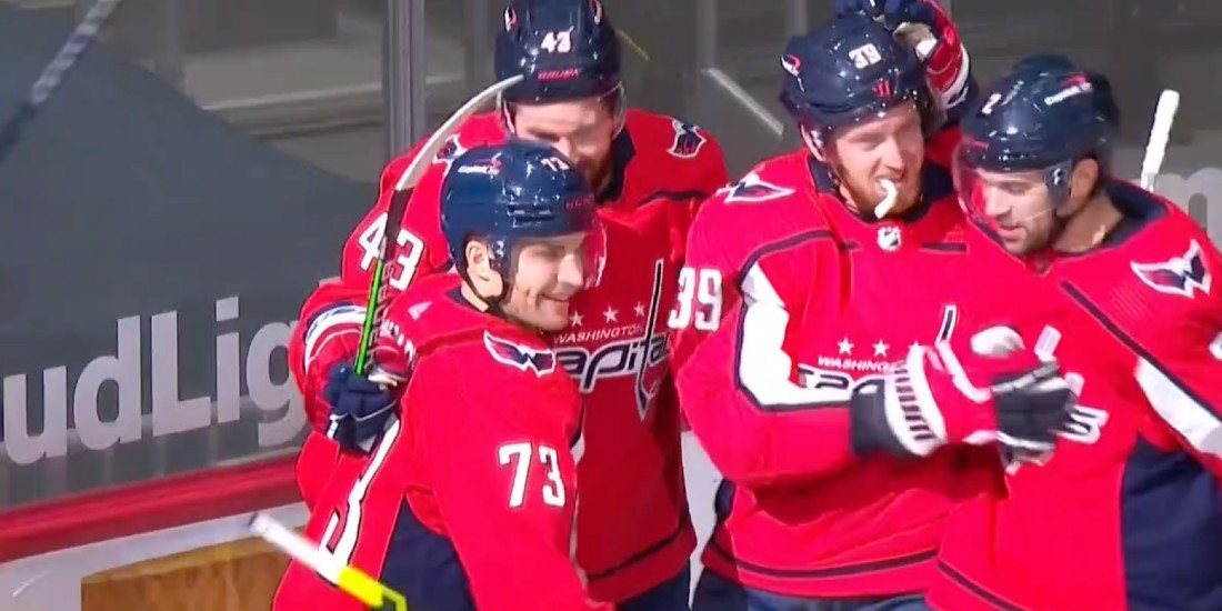 Caps beat Flyers 6-1 in Mantha's debut