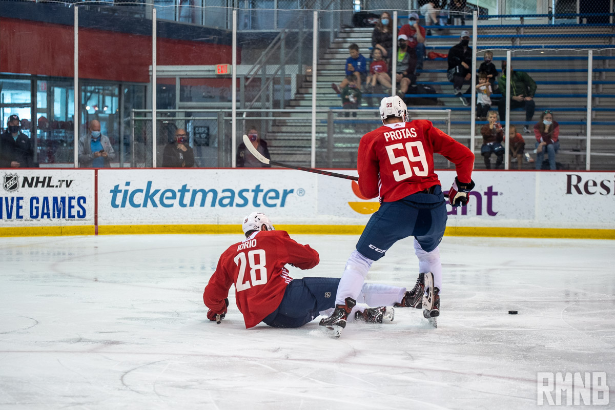 Caps defense prospect Vincent Iorio enjoying Rookie Camp and emulates game after John Carlson