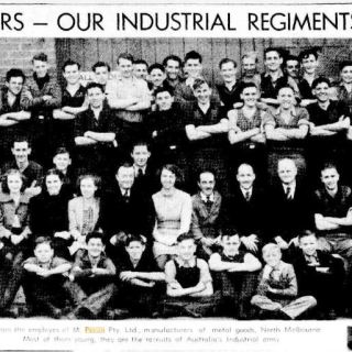 """""""AUTHORESS AND ADMIRERS -- OUR INDUSTRIAL REGIMENTS -- BABY CENTRE OPENED"""" The Age (Melbourne, Vic. : 1854 - 1954) 29 April 1939: 27. Web. 7 Nov 2018"""