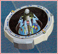 Docking port for the new-generation manned spacecraft