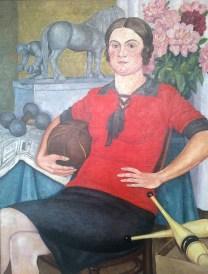 Alexander Monin - Portrait of a female athlete, 1929