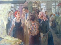 Nadezhda Kornienko - Maxim Gorky at the Tryokhgornaya Manufactory, 1956