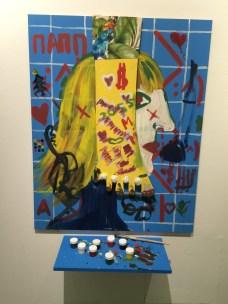 Adding our own art to the EliKuka exhibit @ MAMM