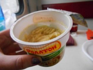 Train diet - mashed potato