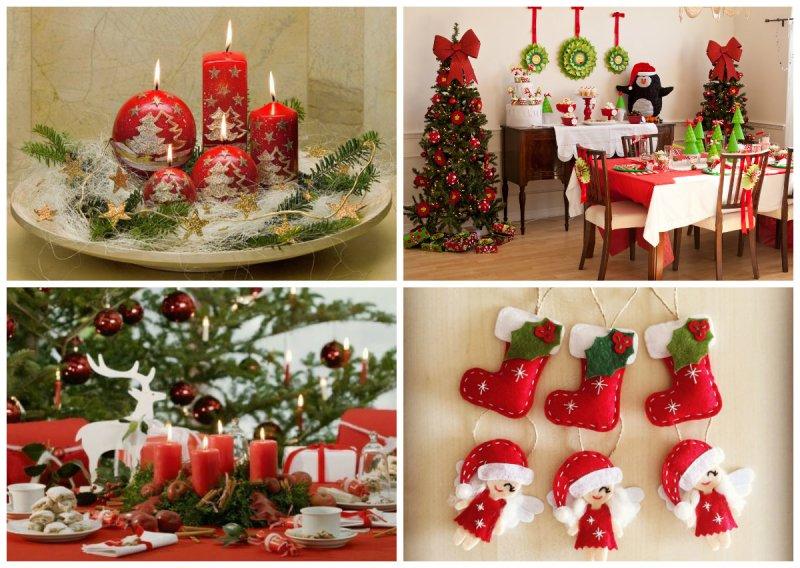 украшение дома и елки на Новый год