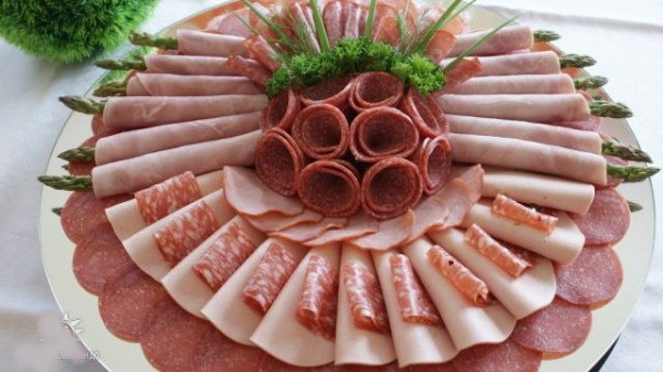 Мясная и колбасная нарезка|Фото