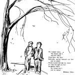 Drawing by Russ Judas for poem Communion published in Pierce College Poetry Annual.