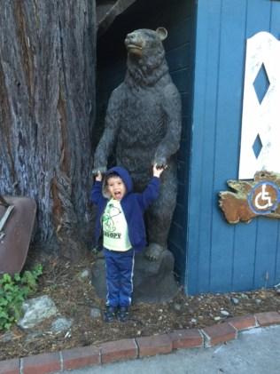 Thomas and Huge Bear Carving IMG_0122