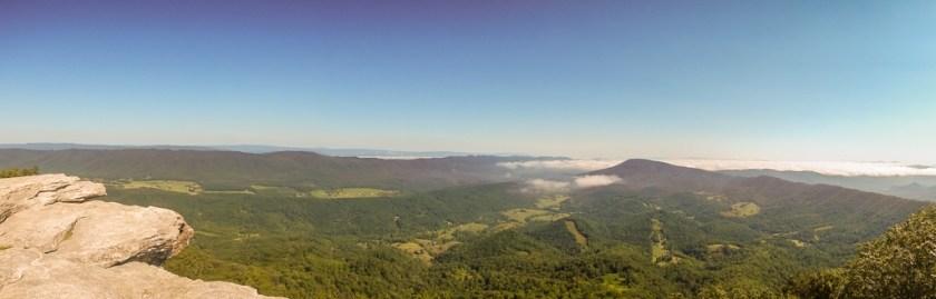 Panoramic view from Virginia mountain