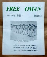 "'Free Oman', published and edited by F. Glubb, London, 1964. Photo caption reads ""A unit of Omani resistance fighters on pistol training""."