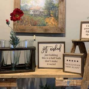 Wood Quote Signs- Wall and Table