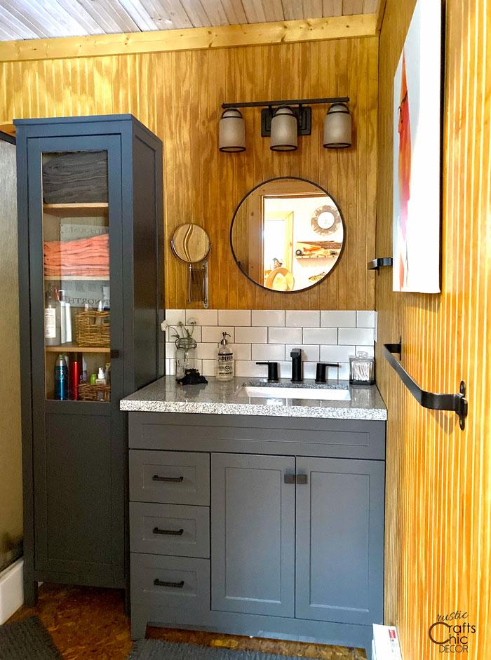 Rustic Home Bathroom Remodel - Rustic Crafts & Chic Decor