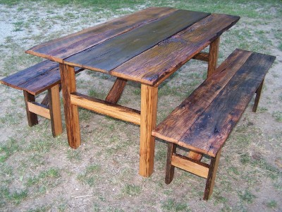 really rustic red oak farm table ~ $300 to $1195