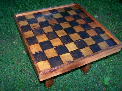 grandpas rustic checkerboard table