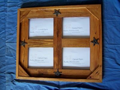 finished 4 panel frames- western iron stars