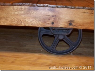 Towsley Factory cart coffee table $495 – SOLD but we have others :)