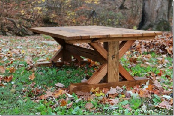 trestle x style  tables