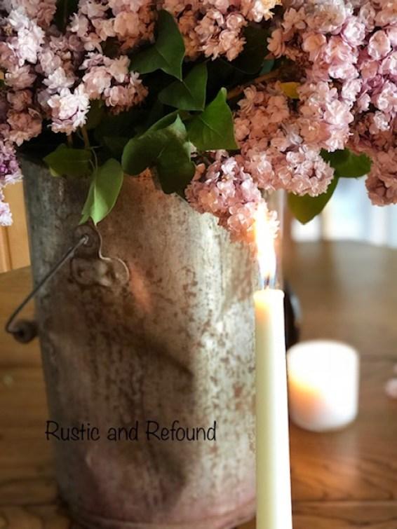 Lilacs in bent bucket 6-18-19