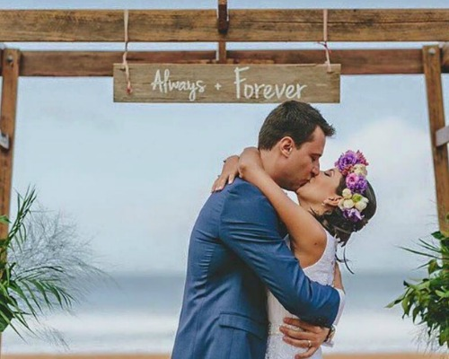 Hanging Timber Sign – Always + Forever