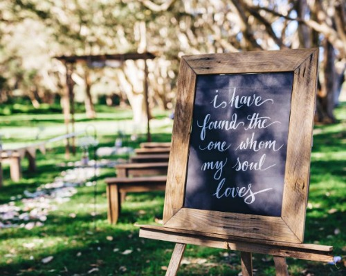 Chalkboard – I have found the one whom my soul loves