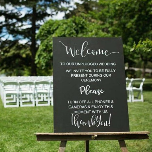 Chalkboard – Unplugged Sign