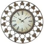 Lulu Decor, Rustic Rings Wall Clock, Size 23″, Round, Perfect for Housewarming Gifts.
