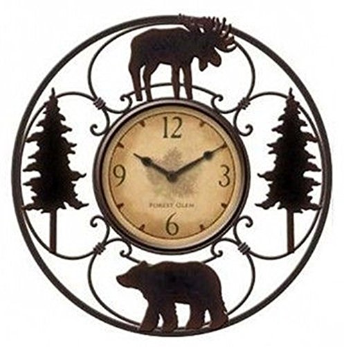 Wildlife Wire Wall Decoractive Clock 11″