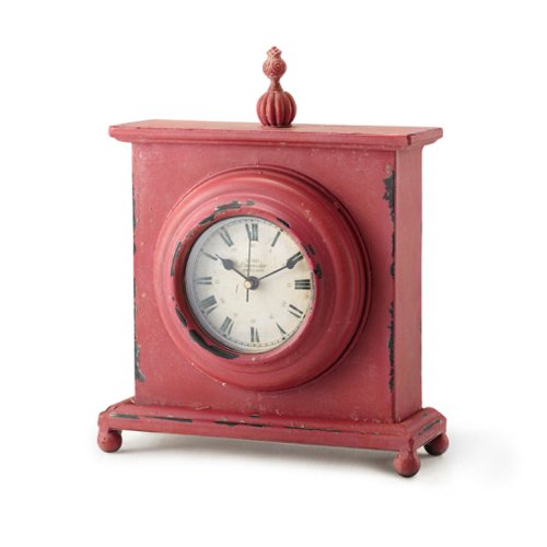 Foreside Iron Desk Clock, Daiquiri