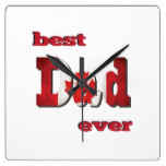Best Canada Dad Ever Square Wall Clocks