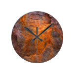 Flaky Rusted Metal Round Wall Clock
