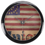 Vintage USA Union Flag Fish Tank Clock